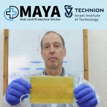 מדבקת מאיה אנטי-ויראלית | פיתוח של הטכניון | נוסה על רופאים וחולים אמיתיים של וירוס הקורונה